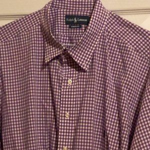 Purple Ralph Lauren Polo Shirt w/ Green Pony